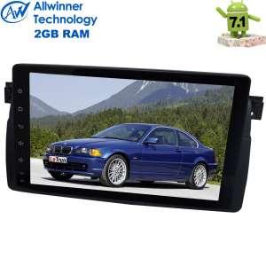 Штатная магнитола BMW 3 series E46 LeTrun 2500 Android 7.1 ALWINNER 9 дюймов