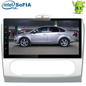 Штатная магнитола Ford Focus 2 (c климатом) LeTrun 1695 Android 5.1.1 экран 10,2 дюйма