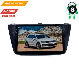 Штатная магнитола Volkswagen Tiguan с 17 года LeTrun 3034 KDKD Android 8.x 4G 10 дюймов 2+16 Gb