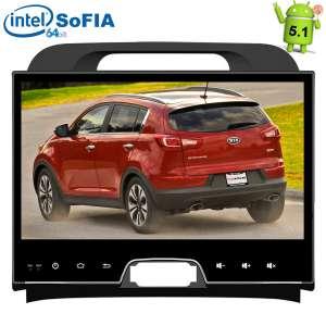 Штатная магнитола Kia Sportage LeTrun 1594 Intel Android 5.1 экран 10 дюймов