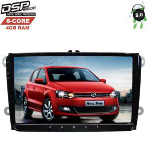 Штатная магнитола Volkswagen Polo, Jetta, Passat, Tiguan LeTrun 2522 Android 8 DSP 8 ядер