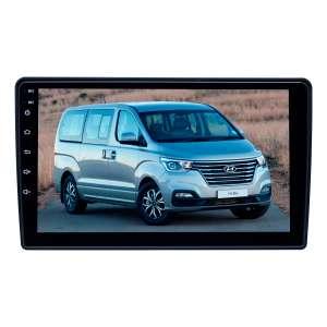 Штатная магнитола для Hyundai Grand Starex 2007-15, H1, i800, iMax 2008-15 (черный) LeTrun 3745-4658 9 дюймов KLD с 1DIN корпусом Android 10 PX6 4+64 DSP