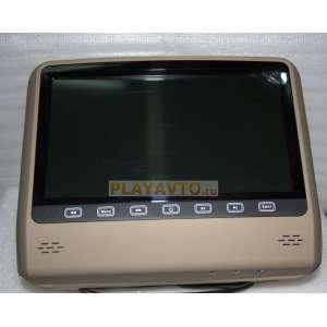 Подголовник с сенсорным монитором 9 дюймов LeTrun DS-993 бежевый  DVD-SD-USB