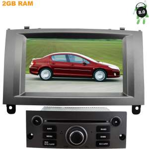 Штатная магнитола Peugeot 407 2004-2010 LeTrun 2543 Android 8