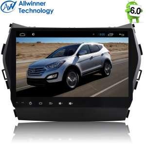 Штатная магнитола Hyundai Santa Fe с 2013 года, IX45 LeTrun 2118 Android 6.0.1  9 дюймов Alwinner T3