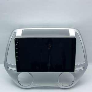 Штатная магнитола для Hyundai I20 2012-14 (климат) LeTrun 4148-4355 9 дюймов (крутилки) KLD с 1DIN корпусом Android 10.x PX6 4+64 DSP