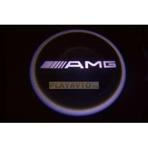 Проекторы логотипа в двери для  AMG