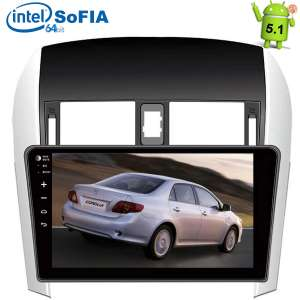 Штатная магнитола Toyota Corolla 2007-2012 LeTrun 1608  Android 5.1.1 экран 10,2 дюйма