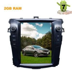 Штатная магнитола Toyota Corolla 2007-2012 г. LeTrun 2411 KSP Android 7.x экран 9.5 дюймов Tesla