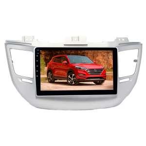 Штатная магнитола для Hyundai Tucson 3 2015-2018 гг. серебро LeTrun 2777-4658 9 дюймов KLD с 1DIN корпусом Android 10 PX6 4+64 DSP