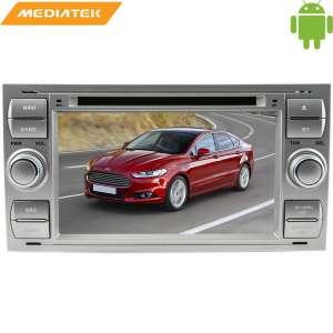 Штатная магнитола Ford Focus 2, Fusion, Kuga, C-MAX цвет серебро LeTrun 1508 KD Android 8.x MTK 4G