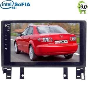 Штатная магнитола Mazda 6, Atenza 2002-2007 Android 6.0.1 Intel экран 9 дюймов LeTrun 2083