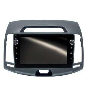 Штатная магнитола для Hyundai Elantra, Avante 2006-2011 LeTrun 3131-4355 9 дюймов (крутилки) KLD с 1DIN корпусом Android 10.x PX6 4+64 DSP